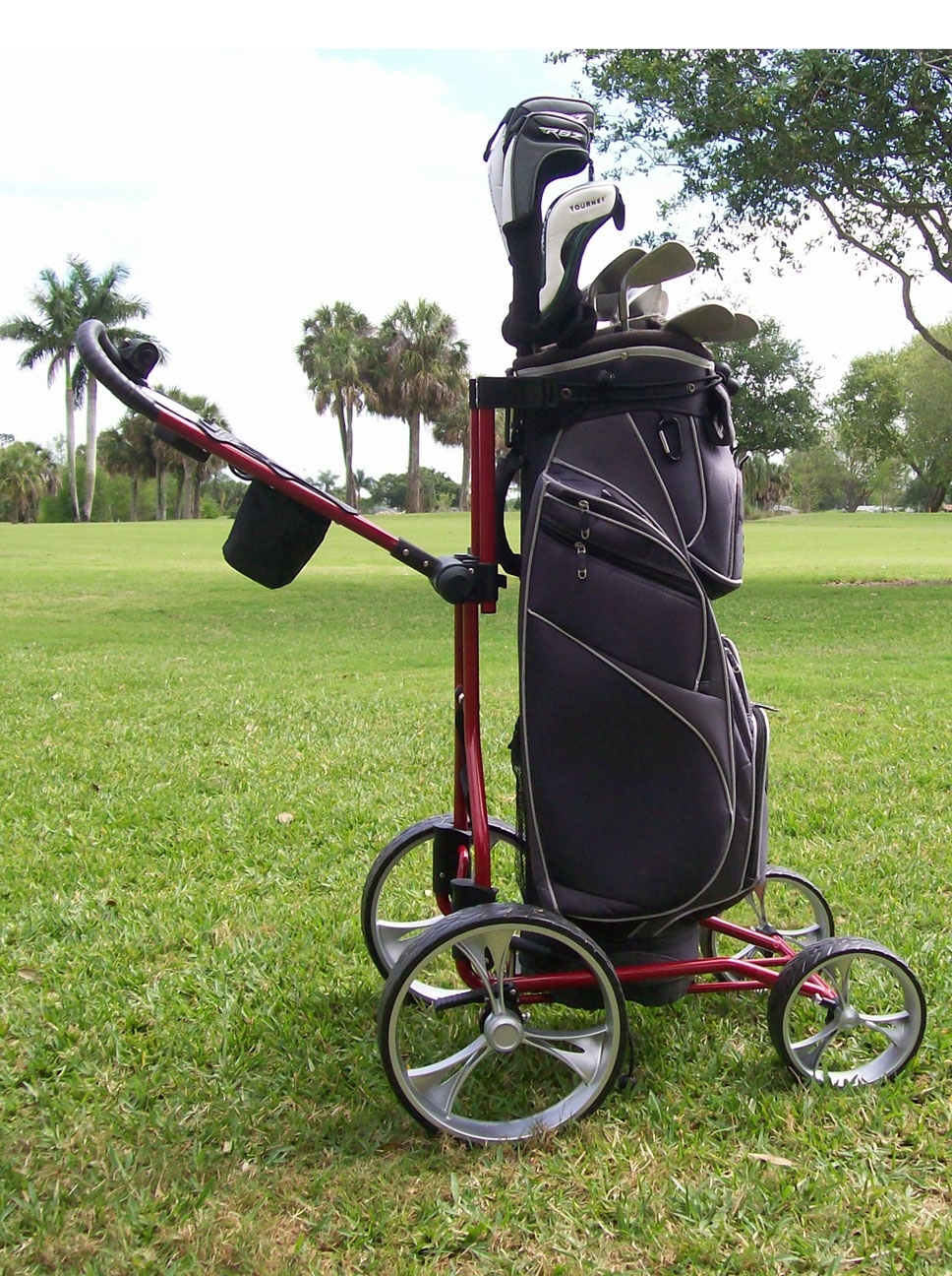 Upright Caddy By Clever Caddie Golf 2014 Push Cart 25